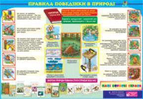 Будна Наталя Олександрівна Дидактичний матеріал/Правила поведінки в природі/ 2000000000770