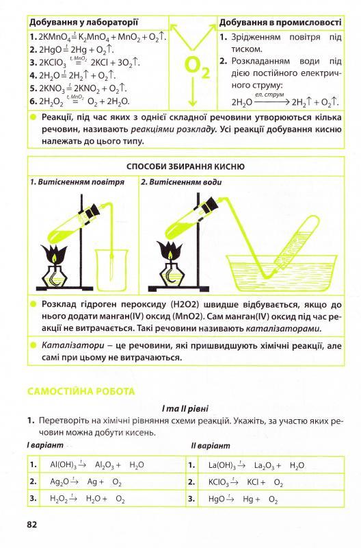 робочий зошит з хімії 9 клас м м савчин відповіді