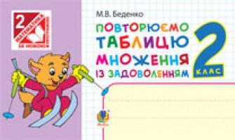 Беденко Марко Васильович Повторюємо таблицю множення із задоволенням. 2 кл. + голограма. 978-966-10-0949-2