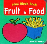 Підручник Mini Block books Fruit & Food