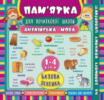 Зінов'єва Л. О. Англійська мова. Базова лексика. 1-4 класи 978-966-284-513-6