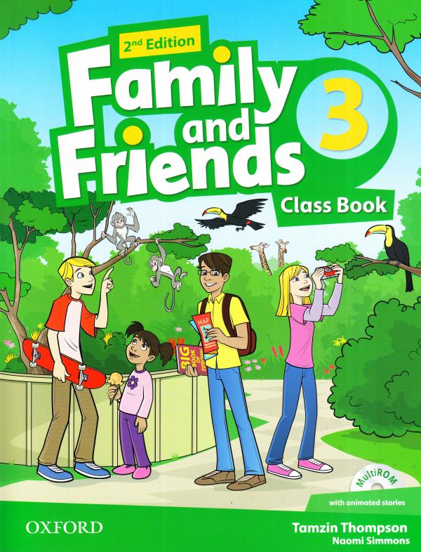 Family and Friends 2nd Edition 3 Class Book with Multi-ROM