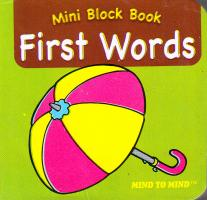 Mini Block books First Words 9789673311859