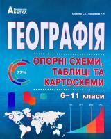 Кобернік С.Г., Коваленко Р.Р. Географія в опорних схемах, таблицях та картосхемах. 6-11 класи : Навчальний посібник 978-966-682-410-6