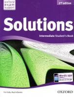 Solutions 2nd Edition Intermediate: Workbook and Audio CD Pack 2nd Edition Ukraine 9780194552882