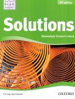 Solutions 2nd Edition Elementary: Workbook and Audio CD Pack 2nd Edition Ukraine 9780194552783