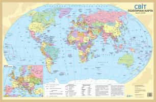 Світ. Політична карта   М1:55 млн. 9786177447176