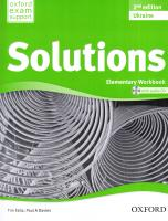 Solutions 2nd Edition Elementary: Workbook and Audio CD Pack 2nd Edition Ukraine 9780194553926