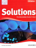 Solutions 2nd Edition Pre-Intermidate: Workbook and Audio CD Pack 2nd Edition Ukraine 9780194552875
