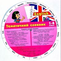 Зінов'єва Л. О. English. Тематичний словник. 1–4 класи 978-617-7576-05-0