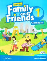 Family and Friends 2nd Edition 1 Class Book with Multi-ROM 9780194808293