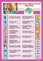 Будна Наталя Олександрівна Дидактичний матеріал/Світова книга прав дитини./ 2000000000596