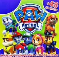 Альбом-розфарбовка із завданнями. PAW Patrol + 48 наліпок