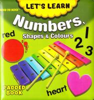 Medium Padded Books Numbers, Shapes and Colours