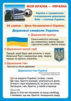 Будна Наталя Олександрівна Дидактичний матеріал/Моя країна - Україна./ 2000000000589